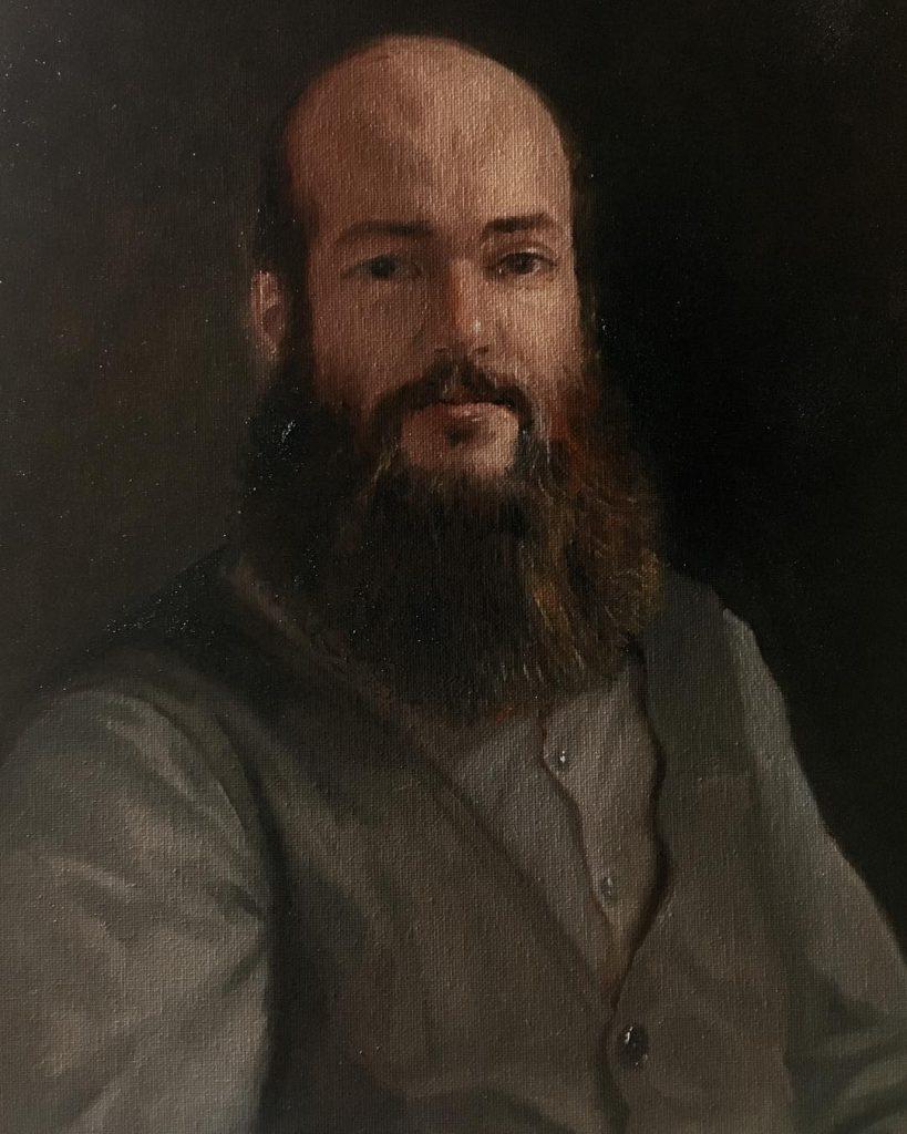 Portrait Of Davide -Oil on Canvas - 2018 - 30x40cm