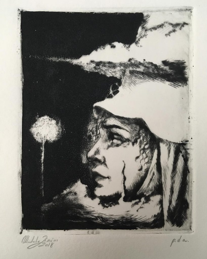 The Seer - Drypoint Engraving - 2018