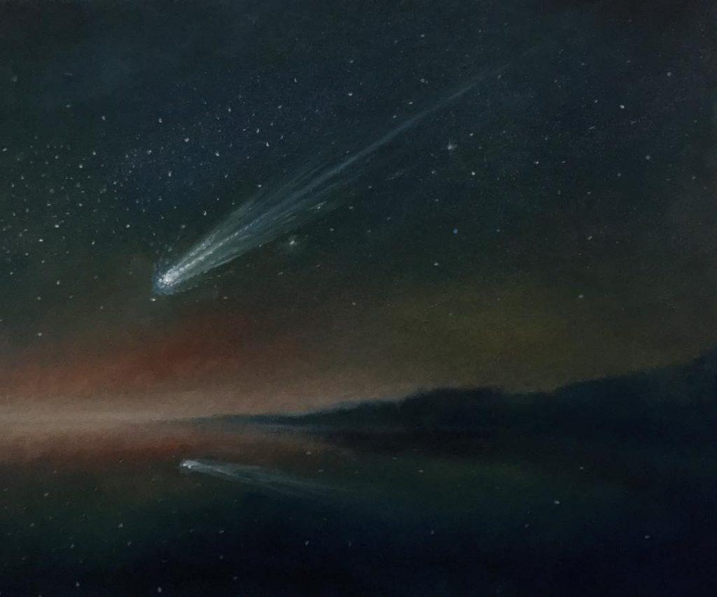 The Comet of Desires - Oil on Cardboard - 2018 - 35,5x29cm