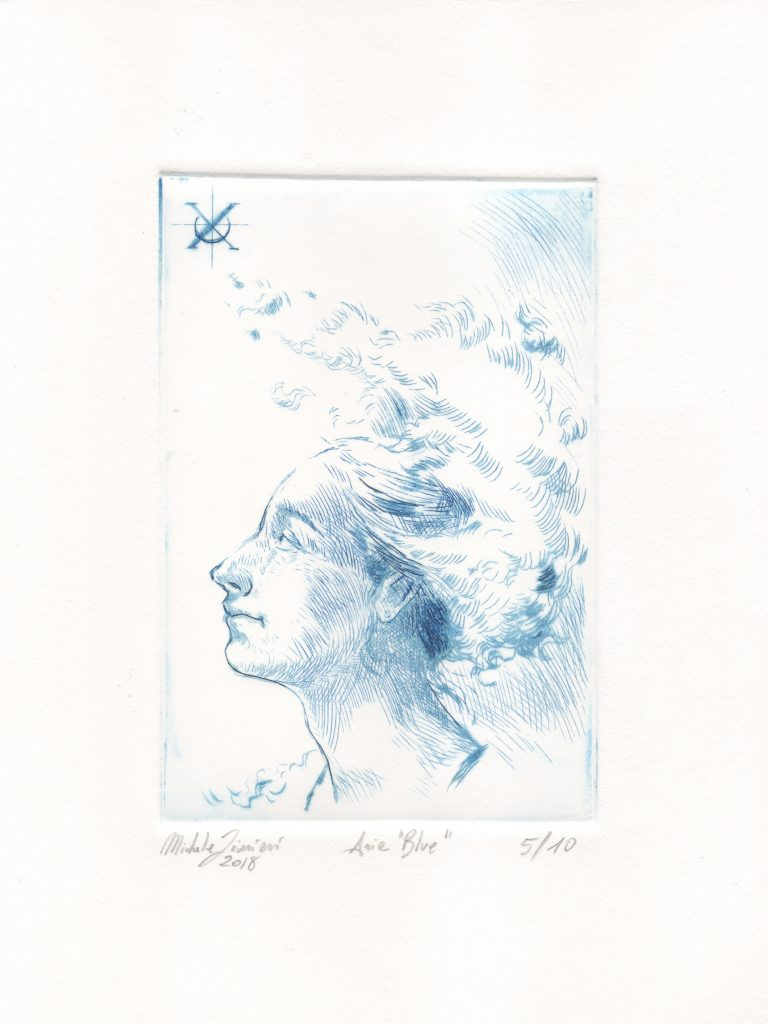 Aria Blue 5/10 - Drypoint Engraving - 2018 - 10x15cm