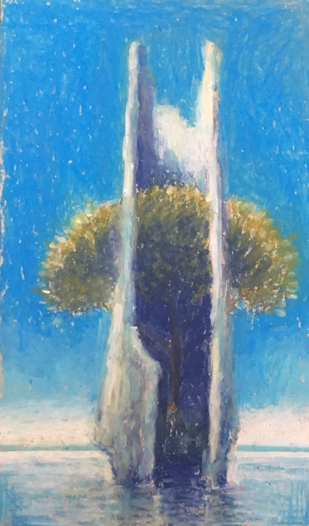The Giant Trees - Oil Pastels on Cardboard - 2018 - 12x20 cm