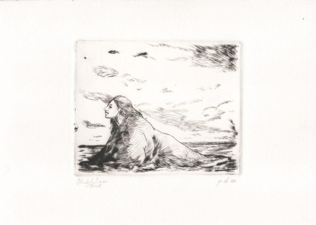 Woman - Drypoint Engraving - 2018 - 13x10cm