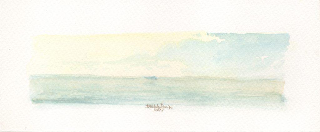 Little Island - Watercolor - 2017 - 16x5cm
