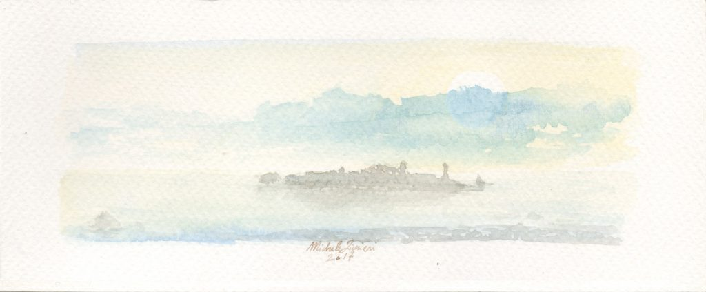Island - Watercolor - 2017 - 16x5cm