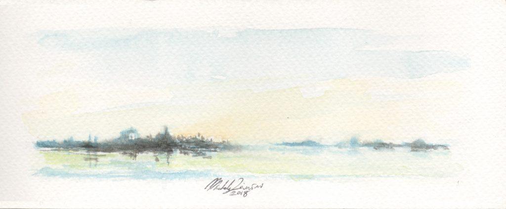 Landscape - Watercolor - 2018 - 16x5cm