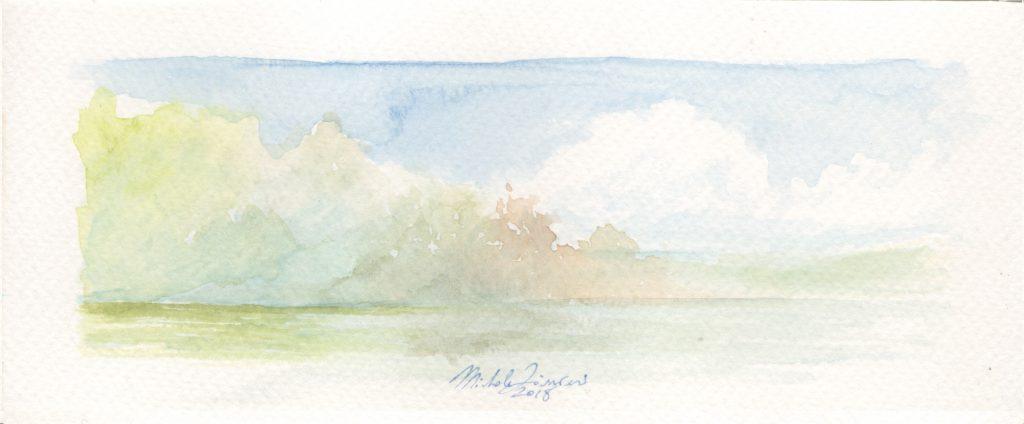 Lake - Watercolor - 2018 - 16x5cm