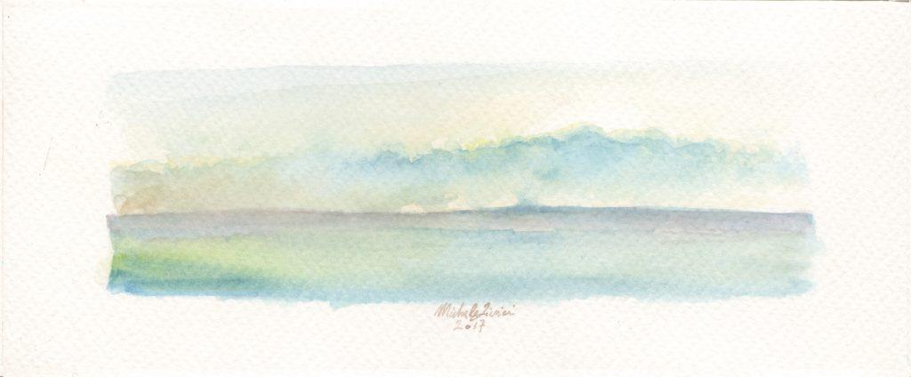 Sea Landscape - Watercolor - 2017 - 16x5cm